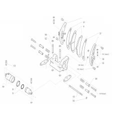 Onderdelen achter-klauw CX-I28