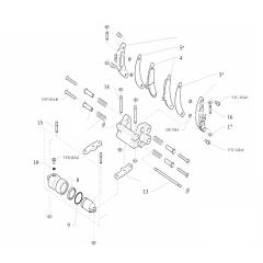 Onderdelen voor-remklauw CX-I24